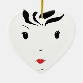 Lipstick Ceramic Ornament