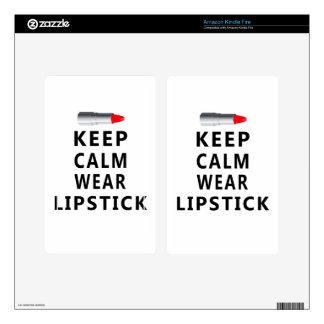 lipstick design cute skin for kindle fire