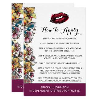 Lipstick Distributor Application + Tips & Tricks Card