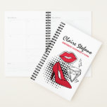 "Lipstick Distributor Beauty Kiss Modern Glamour Planner<br><div class=""desc"">Glam it up, girl! Showcase your trendy style with bold pop art flair. Timeless black and white is accented with bursts of red for flashy, feminine marketing. Halftone patterns, modern illustrations and plenty of charm - perfect for independent lipstick distributors, beauty bloggers, and all things glamorous! • Customize it! Click...</div>"