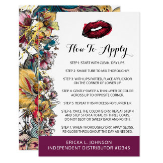 Lipstick Distributor How To Apply Application Kiss Card