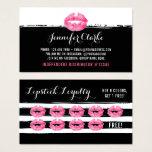 Lipstick Distributor Pink Lips Kiss Loyalty Punch Business Card at Zazzle