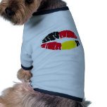 lipstick flag germany dog t shirt