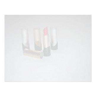 Lipstick for makeup letterhead design