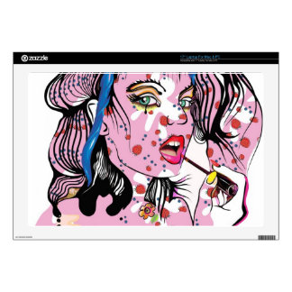 Lipstick Girl Laptop Decals