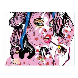 Lipstick Girl Postcard