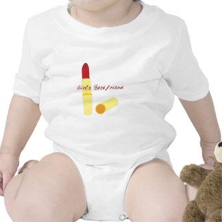 lipstick_Girls Bestfriend Baby Bodysuit