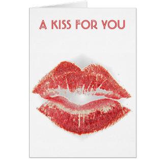 lipstick kiss card