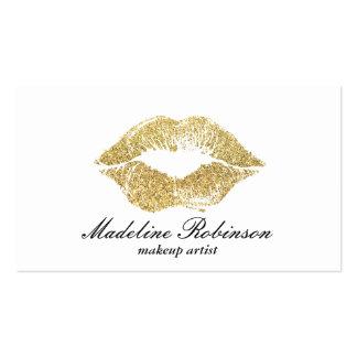 Lipstick Kiss | Gold Business Card