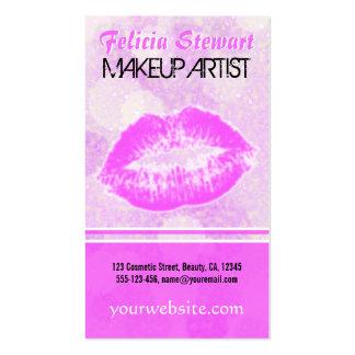 Lipstick Kiss Lips Makeup Artist Business Cards