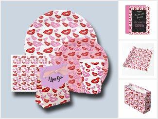 Lipstick kiss party supplies