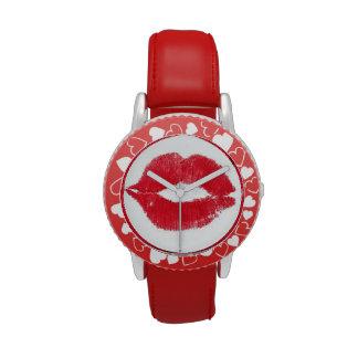 Lipstick Kiss Wristwatch