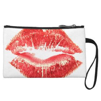 Lipstick Kiss Wristlet