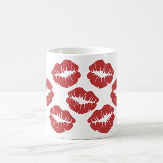 Lipstick Kisses Classic White Coffee Mug