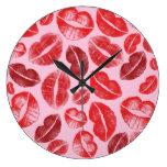 Lipstick Kisses Clocks
