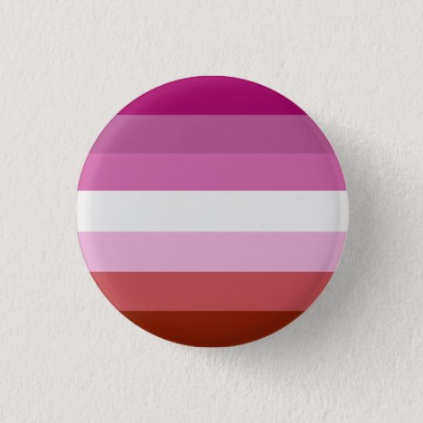 Lipstick Lesbian Pride Flag Badge Button
