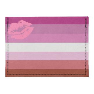Lipstick Lesbian Pride Flag Tyvek® Card Case Wallet