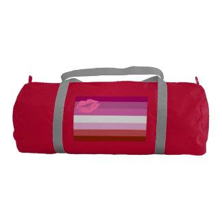 Lipstick Lesbian Pride Flag Gym Duffel Bag