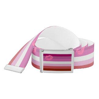 Lipstick Lesbian Pride Flag Belt