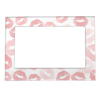 Lipstick Lips Frame Magnet