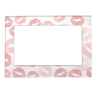 Lipstick Lips Magnetic Picture Frame