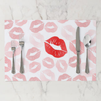 Lipstick Lips Paper Placemat