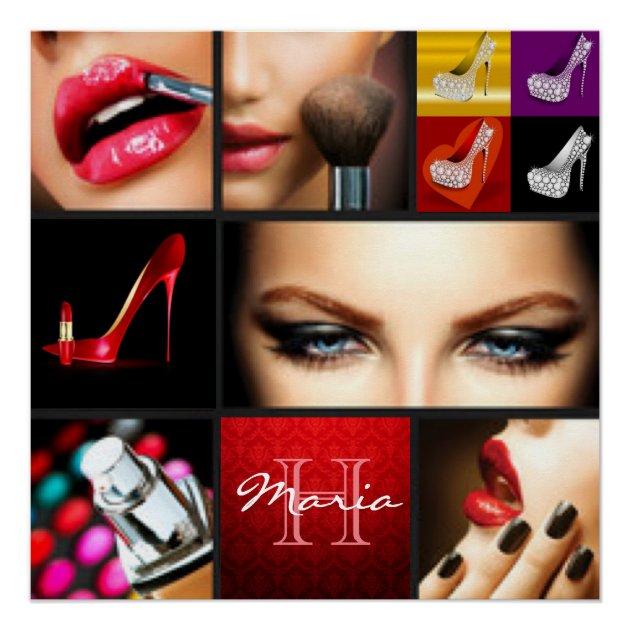 Lipstick Makeup Fashion Design Poster  Fashion Design Posters