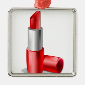Lipstick Metal Ornament