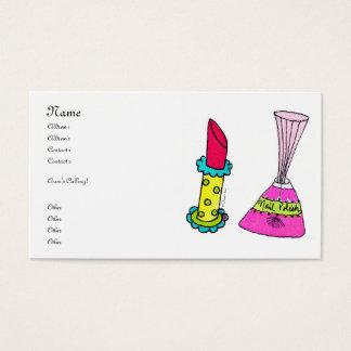 Lipstick & Nail Polish Business Cards