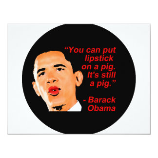 Lipstick Obama Comment Card