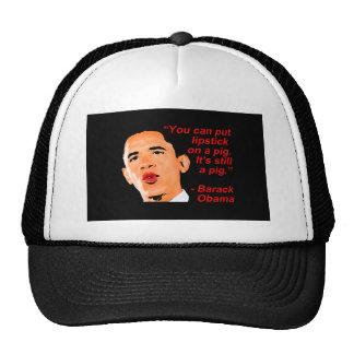 Lipstick Obama Comment Trucker Hat