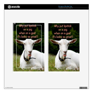 Lipstick on a goat decal for kindle fire