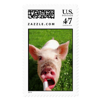 Lipstick on a Pig Postage