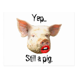 Lipstick on a Pig Postcard