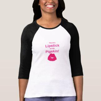Lipstick on Football Casual Sports T-Shirt