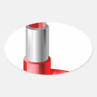 Lipstick Oval Sticker