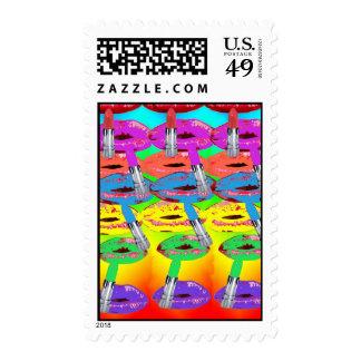 Lipstick Postage Stamp