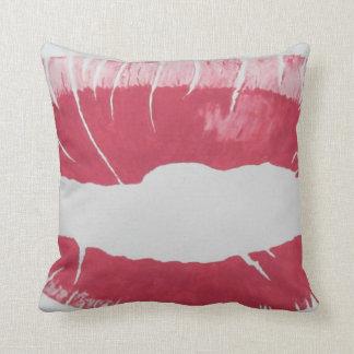 Lipstick print design by RT STONE Throw Pillows