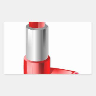 Lipstick Rectangular Sticker