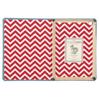 Lipstick Red and White Valentine ZigZag Chevron Case For iPad Air