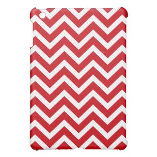 Lipstick Red and White Valentine ZigZag Chevron Cover For The iPad Mini