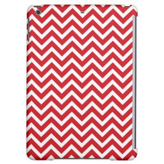 Lipstick Red and White Valentine ZigZag Chevron iPad Air Covers