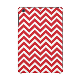 Lipstick Red and White Valentine ZigZag Chevron iPad Mini Covers