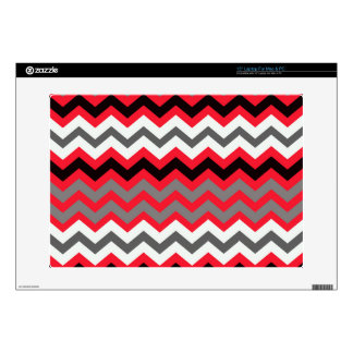 "Lipstick Red,Black and White Decal For 15"" Laptop"