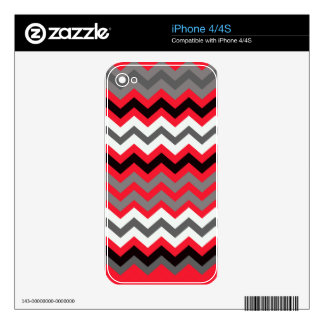 Lipstick Red,Black and White iPhone 4S Decal