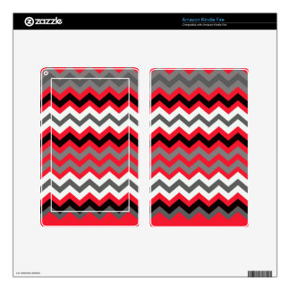 Lipstick Red,Black and White Kindle Fire Skin