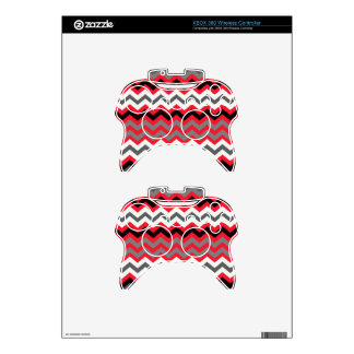 Lipstick Red,Black and White Xbox 360 Controller Decal