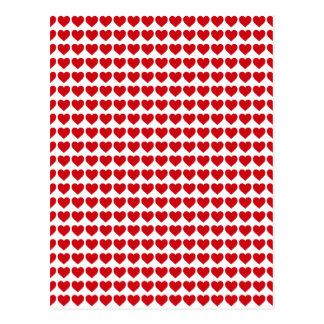 LIpstick Red Candy Hearts On White Postcard