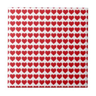 LIpstick Red Candy Hearts On White Ceramic Tiles