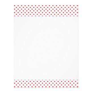 Lipstick Red Candy Polka Dot Hearts On White Letterhead